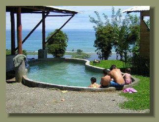 The swimming Pool of the Eco Lodge that is preesent in this Oceanview Property in the Osa Peninsula