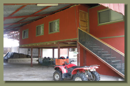 the interior of the commercial industrial facilty close to the Golfo Dulce beaches of the Central Osa Peninsula
